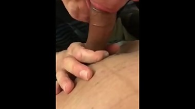 Mature Male Swallows Asian Load