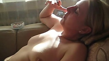 Mature slut smoking
