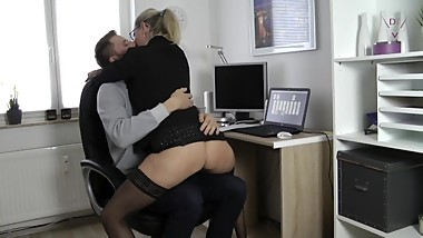Warning! Trainee seduced to fuck!