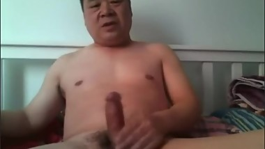Chinese daddy jerk off 中年大叔手淫射精