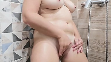 Strong orgasm in the shower.