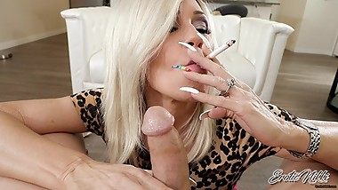 Nikki Ashton - Smoking Saratoga While Sucking Cock