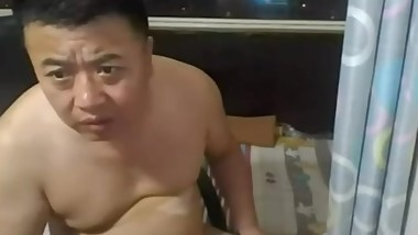 Chinese daddy cumshot 中年熊裸聊射精