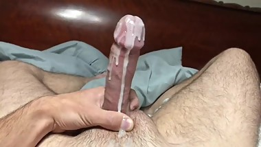 Didn't even get a Chance to use the Lube.  PreMature Big Dick Cum