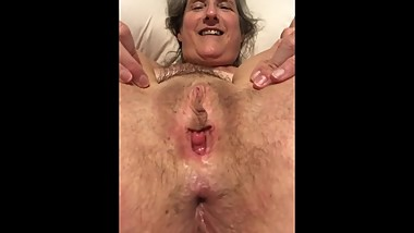 Pussy Spread Wide Gape Tied Up Mature Milf Granny Gilf