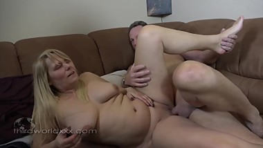 Chubby Blonde and Some Older Cock