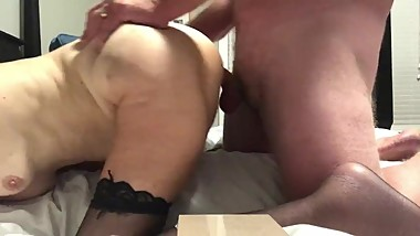 granny milf mature gilf 60 year old ass fuck anal squirt doggy style