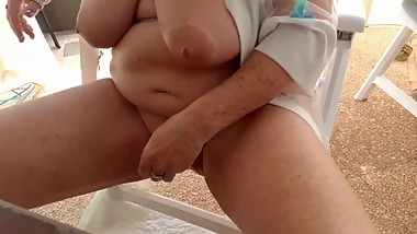 A dirty video, hot mature peeing and finger fuck tight pussy and ass