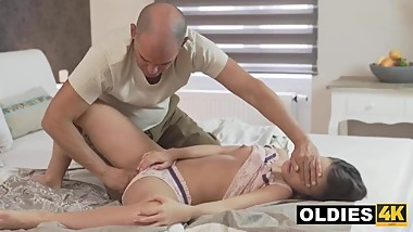 Older Gentleman Satisfies Anal Fantasy For Teen Cracker