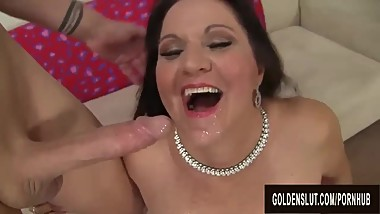 Curvy Mature Leylani Wood Has Her Experienced Pussy Licked and Dicked