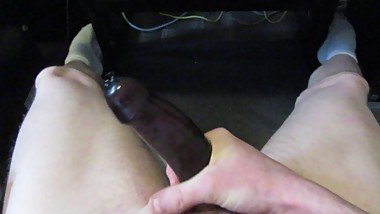 Young Solo Male Filling a Condom Full Of Cum