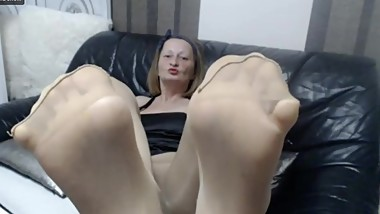 Badmumerica nylon feet in your face