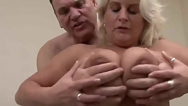 British Blonde Mature Big Tits Pornstar Robyn Ryder playing chamber maid