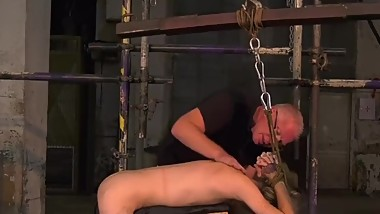 Twink slave Jacob Daniels endures his mature masters torment