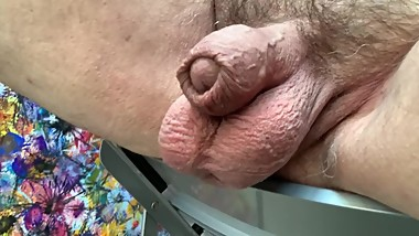 My flacid fat cock is semi-cut and grows like a bloated sausage