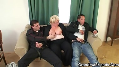 Granny gets wasted and creamed - GrandmaFriends