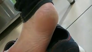 Mature agressive shoeplay
