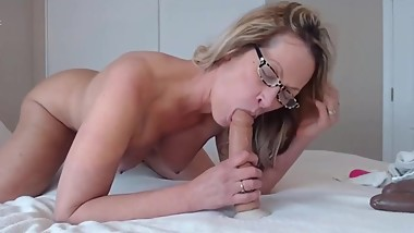 Sloppy blow job and a deep anal