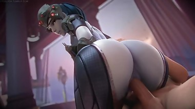 Widowmaker Hard FUCK by Big Dick Overwatch 3D SEX Game Anime Compilation