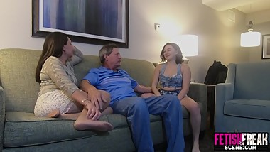 Babysitter fucked by randy husband and wife