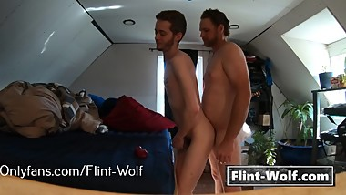 Bareback Daddy Bear Pushes Me Down and Pounds My Ass (Flint-Wolf.com)