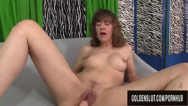 An Orgasmic Machine Fucking for Slutty Granny Babe Morgan