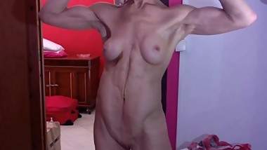 Athletic GILF Showing Her Beautiful Muscles