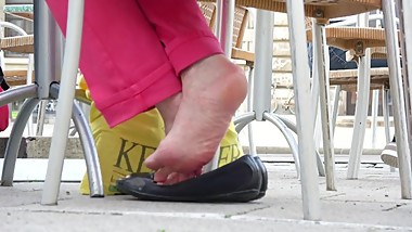 Mature Dipping With Wrinkly Soles 2