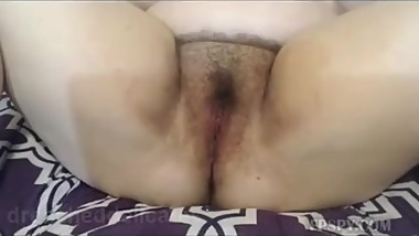 SG gives us a tour of her fat hairy pussy and masturbates 4