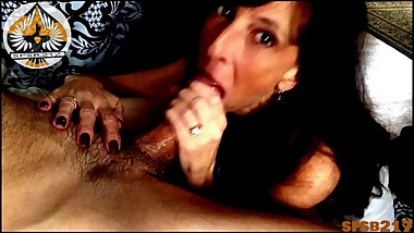 Sexy Mature Hotty Drains A Big Fat Cock-Oral Creampie (REAL COUPLE)