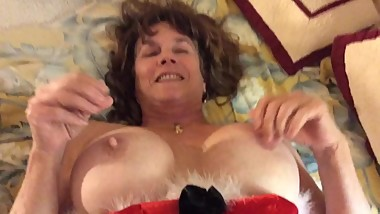 big tit Christmas Present gets fucked