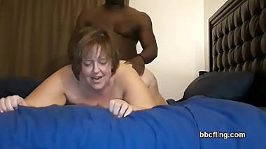 Fat White Woman Loves Black Cock
