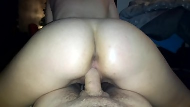 Riding Hard, Petite Teen Creams And Cums All Over Giant Cock