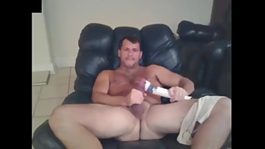 Straight Daddy and His Vibrator