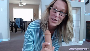 Hot Milf Jess Ryan Teach's Son's Best Friend About Sex