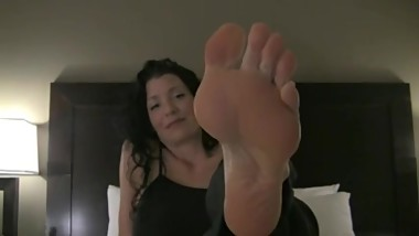 Mature Woman Foot Chastity JOI
