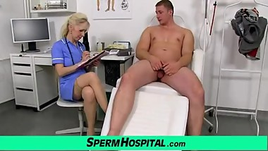 Maya a mature uniform nurse big dick CFNM wankjob