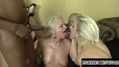 Hot Anal Orgy with Four Mature Sluts and Four BBCs
