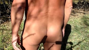 Horny Uncle Outdoors -Tanned - Naked