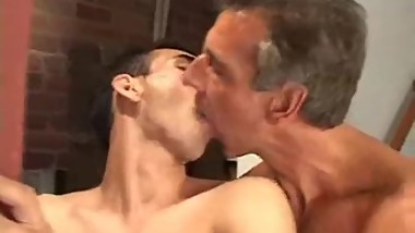 Hung silver fox fucks a young jock deep and hard