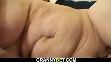 Hot-looking guy doggy-fucks 60 years old mature woman