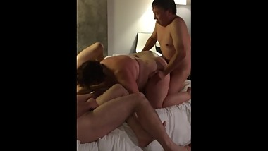 Liz - busy with interracial gang bang - being used like a slut