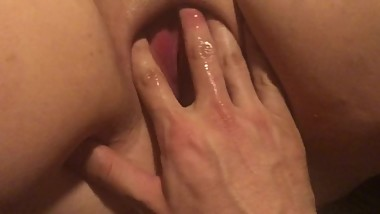 BBW fingered and pounded hard