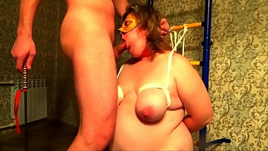 BBW slave slut cocksucking abuse