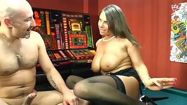 Busty Sexy Susi gets sex on the pool table