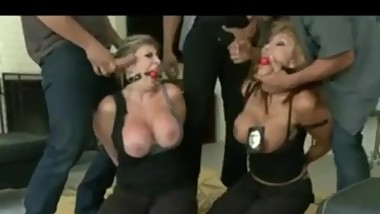 Ava Devine and Sara Jay Get Gangbanged By Criminals