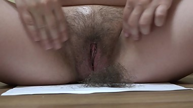 shaving a very hairy cunt, pregnant skinny milf