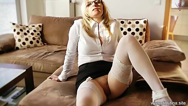 Cum on my Nylons