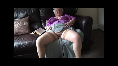 Big boobs granny with nice hairy pussy