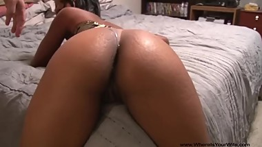 Chubby mature ebony doggied